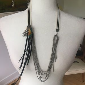 Feathered Necklace by designer